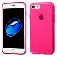 Premium Sparkling Sheer Glitter Candy Skin Cover for iPhone 8 / 7 - Hot Pink