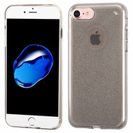Premium Sparkling Sheer Glitter Candy Skin Cover for iPhone 8 / 7 - Smoke