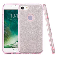 Full Glitter Hybrid Protective Case for iPhone 8 / 7 - Pink