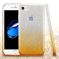 Full Glitter Hybrid Protective Case for iPhone 8 / 7 - Gradient Gold