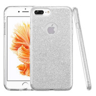 Full Glitter Hybrid Protective Case for iPhone 8 Plus / 7 Plus - Silver