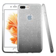 Full Glitter Hybrid Protective Case for iPhone 8 Plus / 7 Plus - Gradient Black