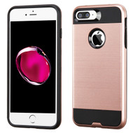 Brushed Hybrid Armor Case for iPhone 8 Plus / 7 Plus - Rose Gold