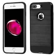 Brushed Hybrid Armor Case for iPhone 8 Plus / 7 Plus - Black