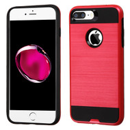 Brushed Hybrid Armor Case for iPhone 8 Plus / 7 Plus - Red