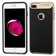 Bumper Frame Hybrid Case for iPhone 8 Plus / 7 Plus - Gold