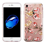 Premium Perforated Transparent Cushion Gelli Case for iPhone 8 / 7 - Painted Flowers