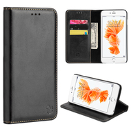 Luxury Magnetic Leather Wallet Case for iPhone 6 Plus / 6S Plus - Black