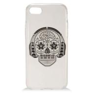 *Sale* Diamond Transparent TPU Case for iPhone 7 - Skull Headphones
