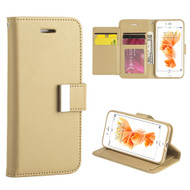 Essential Leather Wallet Stand Case for iPhone 8 Plus / 7 Plus - Gold