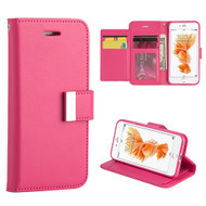 Essential Leather Wallet Stand Case for iPhone 7 Plus - Hot Pink