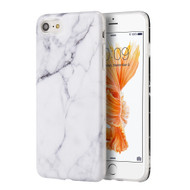Marble TPU Case for iPhone 7 - White
