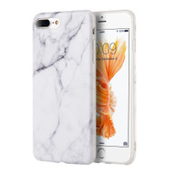 Marble TPU Case for iPhone 7 Plus - White