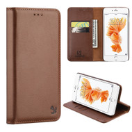 Luxury Magnetic Leather Wallet Case for iPhone 8 Plus / 7 Plus - Brown