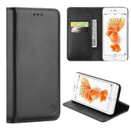 Luxury Magnetic Leather Wallet Case for iPhone 7 Plus - Black