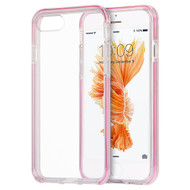 *Sale* Crystal Clear TPU Case with Bumper Support for iPhone 8 Plus / 7 Plus - Pink