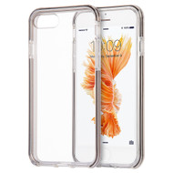 Crystal Clear TPU Case with Bumper Support for iPhone 8 Plus / 7 Plus - Smoke