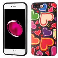 Graphic Advanced Armor Hybrid Case for iPhone 8 Plus / 7 Plus - Colorful Hearts