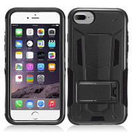 Transformer Hybrid Armor Case with Stand for iPhone 7 - Black