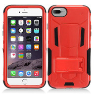 Transformer Hybrid Armor Case with Stand for iPhone 7 - Red
