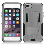 Transformer Hybrid Armor Case with Stand for iPhone 7 - Grey