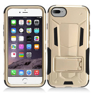 Transformer Hybrid Armor Case with Stand for iPhone 7 - Gold