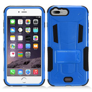 Transformer Hybrid Armor Case with Stand for iPhone 7 Plus - Blue