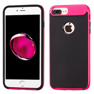 Bumper Frame Hybrid Case for iPhone 8 Plus / 7 Plus - Hot Pink