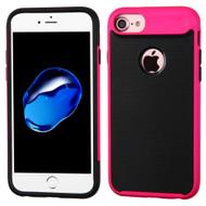 Bumper Frame Hybrid Case for iPhone 8 / 7 - Hot Pink