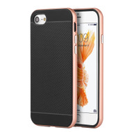 *Sale* Carbon Fiber Grade Hybrid Case with Bumper Frame for iPhone 7 - Rose Gold