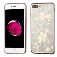 *Sale* Phoenix Tail Flowers Premium Electroplating  TPU Case for iPhone 7 Plus - Silver