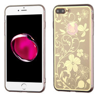 *Sale* Phoenix Tail Flowers Premium Electroplating  TPU Case for iPhone 7 Plus - Gold