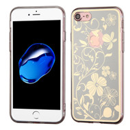 *Sale* Phoenix Tail Flowers Premium Electroplating  TPU Case for iPhone 7 - Silver