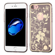 Phoenix Tail Flowers Premium Electroplating  TPU Case for iPhone 8 / 7 - Brown