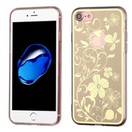 *Sale* Phoenix Tail Flowers Premium Electroplating  TPU Case for iPhone 7 - Gold