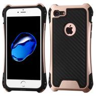 Hero Carbon Fiber Grade Hybrid Case for iPhone 8 / 7 - Rose Gold