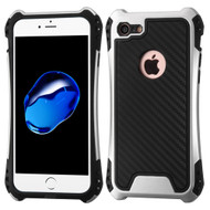 *Sale* Hero Carbon Fiber Grade Hybrid Case for iPhone 7 - Silver