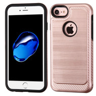 Brushed Multi-Layer Hybrid Armor Case for iPhone 8 / 7 - Rose Gold