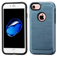 *SALE* Brushed Multi-Layer Hybrid Armor Case for iPhone 7 - Ink Blue