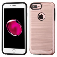 Brushed Multi-Layer Hybrid Armor Case for iPhone 8 Plus / 7 Plus - Rose Gold