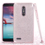 Full Glitter Hybrid Protective Case for ZTE Zmax Pro - Pink