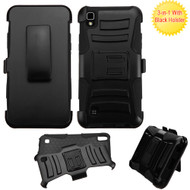 Advanced Armor Hybrid Kickstand Case with Holster for LG K6 / X Power - Black