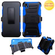 *SALE* Advanced Armor Hybrid Kickstand Case with Holster for LG K6 / X Power - Black Blue