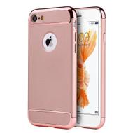 GripTech 3-Piece Chrome Frame Case for iPhone 8 / 7 - Rose Gold