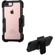 TUFF Vivid Hybrid Armor Case with Holster for iPhone 8 Plus / 7 Plus - Black