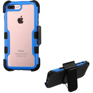 TUFF Vivid Hybrid Armor Case with Holster for iPhone 8 Plus / 7 Plus - Blue