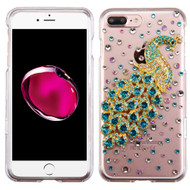 Crystal 3D Diamond Translucent Case for iPhone 8 Plus / 7 Plus - Peacock Turquoise