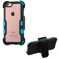 *Sale* TUFF Vivid Hybrid Armor Case with Holster for iPhone 6 Plus / 6S Plus - Black Teal