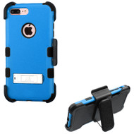 Military Grade TUFF Hybrid Armor Kickstand Case with Holster for iPhone 8 Plus / 7 Plus - Blue