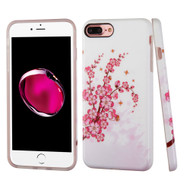 Premium Graphic Rubberized Protective Gel Case for iPhone 8 Plus / 7 Plus - Spring Flowers